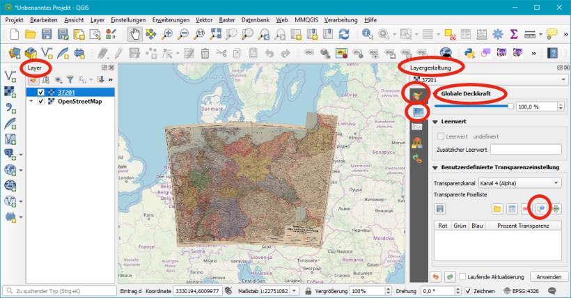 Historische Karten georeferenzieren