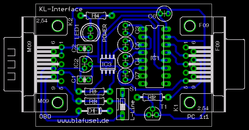 serielles (RS232) KL-Interface für OBD